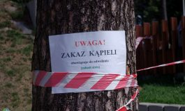 Zakwit sinic i zakaz kąpieli w Paprocanach