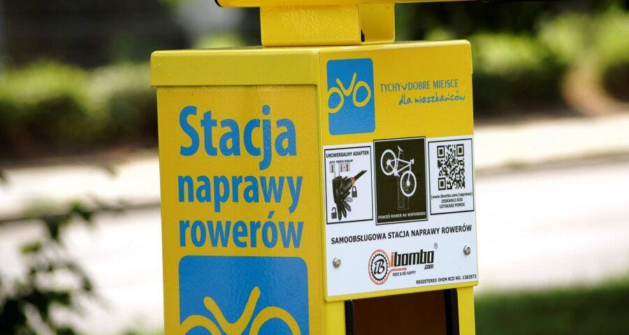Kolejne stacje napraw rowerów stanęły w Tychach