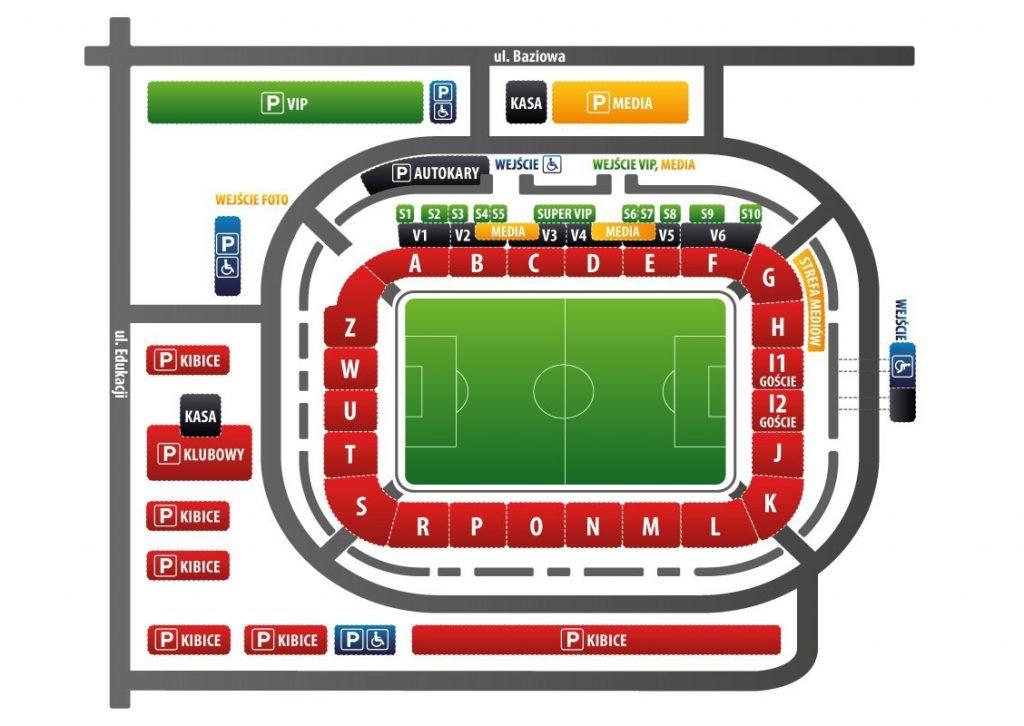 Stadion Miejski - schemat