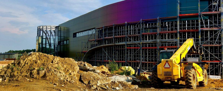 Chameleon – montaż fasady Wodnego Parku Tychy