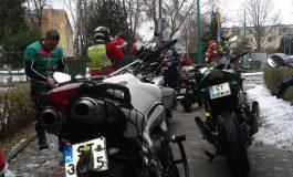Mikołaje na motocyklach odwiedzili dzieci osierocone tyskiego Hospicjum
