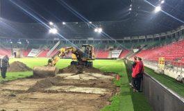 Operacja wymiany murawy na Stadionie Miejskim rozpoczęta