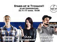 Stand-up HYPE - Olka Szczęśniak, Adam Bendler, Rafał Banaś w Underground Pub