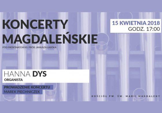 Koncert Magdaleński – Hanna Dys