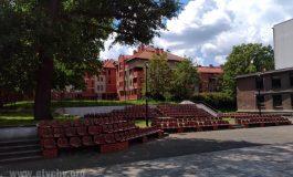 Poranek Muzyczny - Orkiestra Dęta KWK Piast na dziedzińcu Teatru Małego