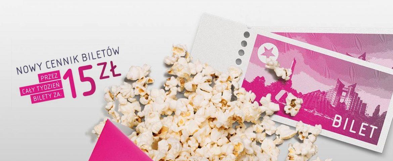 Nowe ceny biletów Multikina – 15 złotych przez cały tydzień