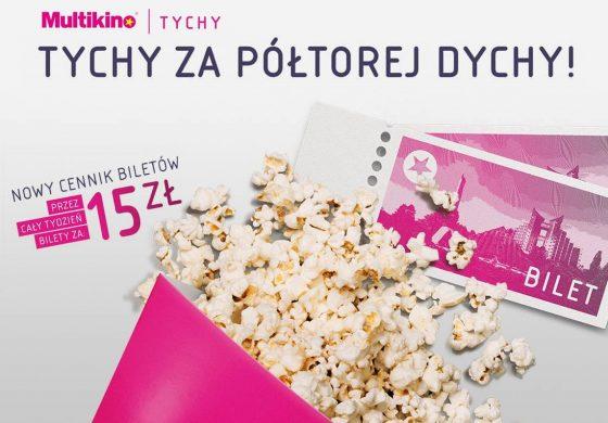 Nowe ceny biletów Multikina - 15 złotych przez cały tydzień