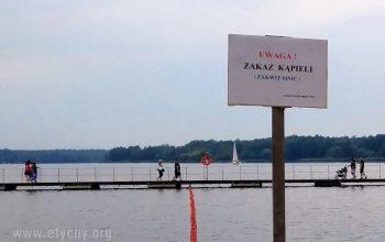 Zakaz kąpieli w Paprocanach - ponowny zakwit sinic
