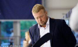 Andriej Gusow i Adam Bagiński w Alei Gwiazd Tyskiej Galerii Sportu