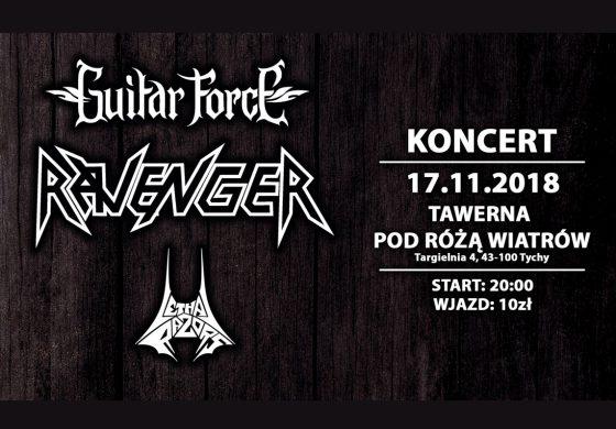 Koncert Guitar Force, Ravenger, Lethal Razors w Tawernie