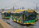 Nowe trolejbusy TLT na placu Baczyńskiego