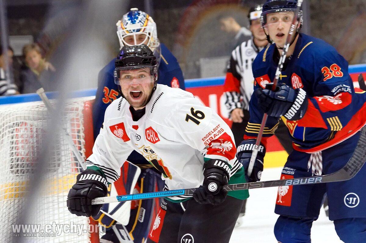Hokej CHL: GKS Tychy przegrywa zasłużenie z wicemistrzami Szwecji – Djurgarden Stockholm [foto]