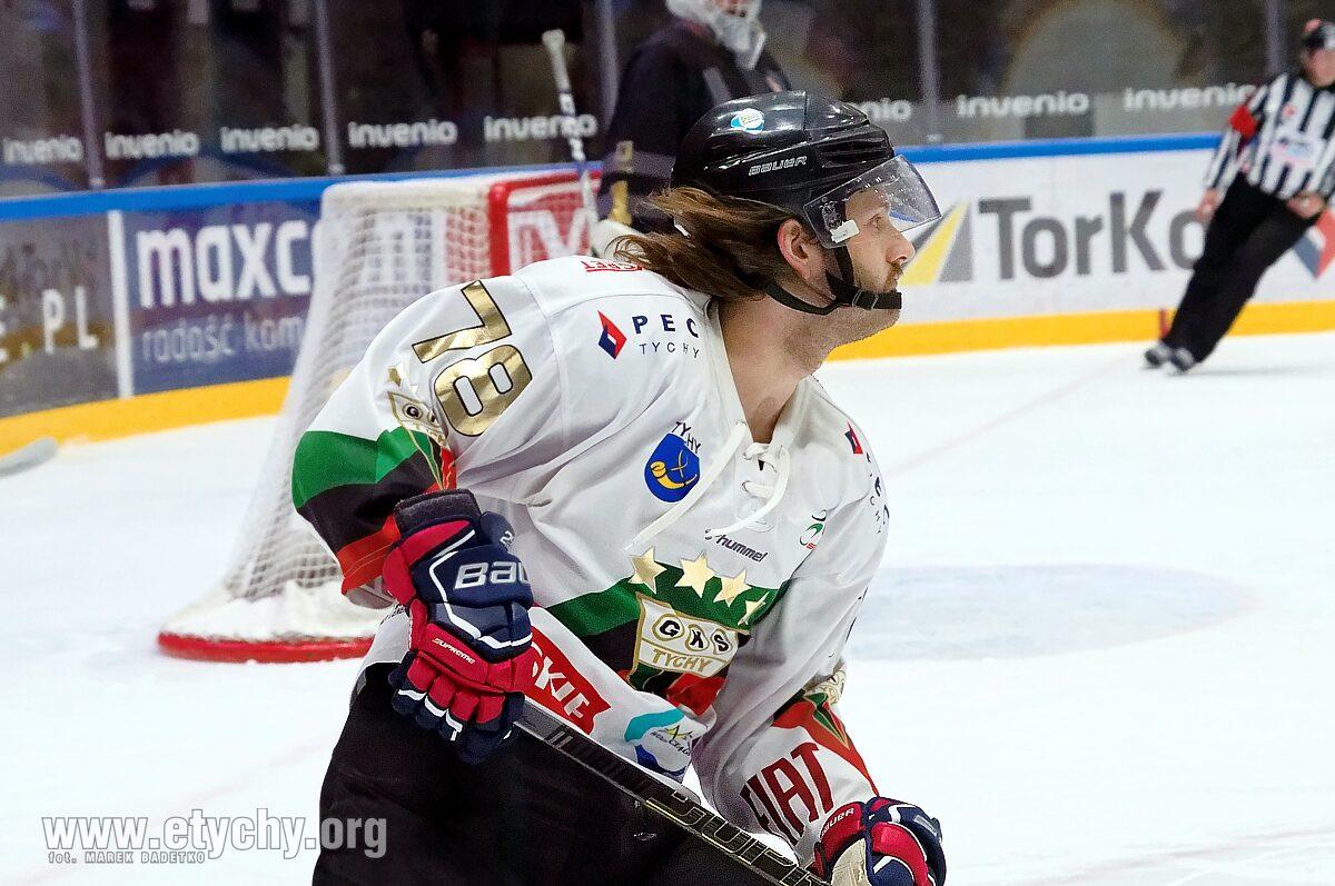 Hokej: Michael Cichy bohaterem meczu. GKS Tychy – Comarch Cracovia 3:1 [foto]