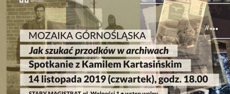 """Mozaika Górnośląska – """"Jak szukać przodków w archiwach?"""" w Muzeum Miejskim"""