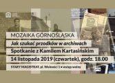 """Mozaika Górnośląska - """"Jak szukać przodków w archiwach?"""" w Muzeum Miejskim"""