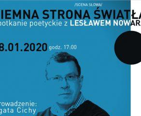 Ciemna strona światła - spotkanie poetyckie z Lesławem Nowarą w Andromedzie