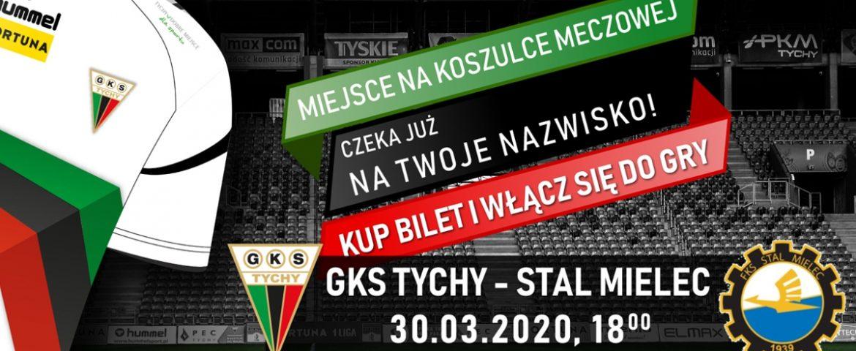 Piłka nożna: Kup wirtualny bilet – twoje nazwisko na koszulkach meczowych GKS Tychy