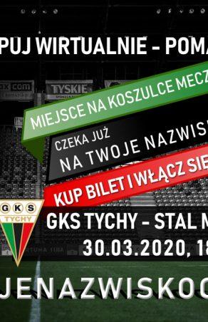 Piłka nożna: Kup wirtualny bilet - twoje nazwisko na koszulkach meczowych GKS Tychy