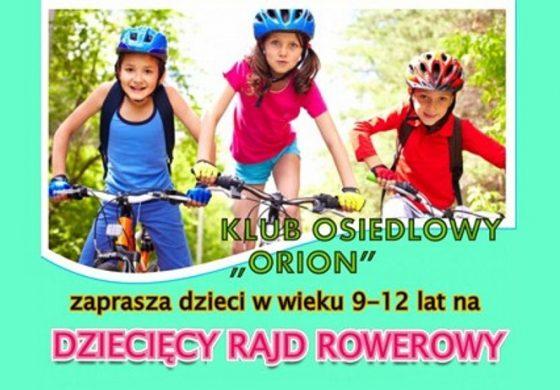 Rajd Rowerowy z okazji Dnia Dziecka w Orionie