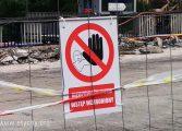 Rozbiórka wiaduktu na ul. Grota-Roweckiego - zamknięcie ruchu pieszego